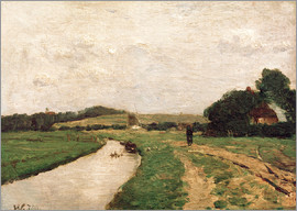 Otto Modersohn - Hamme meadows and the Weyerberg mountain