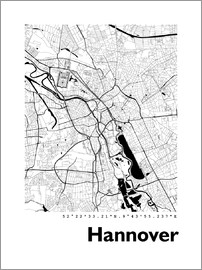 44spaces - Hanover city map HF 44spaces