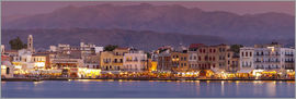 John Miller - Harbour at dusk, Chania, Crete, Greece, White Mountains