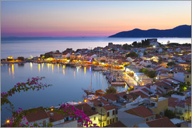 Stuart Black - Harbour at dusk, Pythagorion, Samos, Aegean Islands, Greek Islands, Greece, Europe
