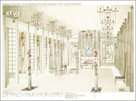 Charles Rennie Mackintosh - House of an art lover: Salon and music room