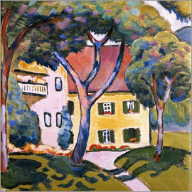 August Macke - House in a Landscape