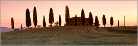 Markus Lange - House with cypresses, Tuscany