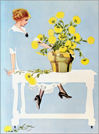 Clarence Coles Phillips - Housekeeper with bouquet