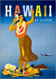 Hawaii by Clipper vintage travel