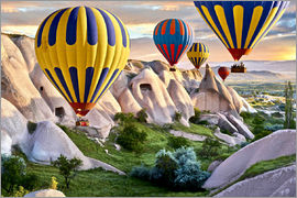 imageBROKER - Hot air balloons over Goreme tuff rock formations