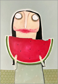 Theresa Franziska Jänisch - Helena Vogelpohl with fresh melon