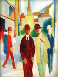 August Macke - Bright street with people