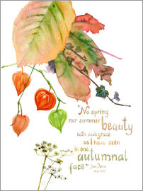 Verbrugge Watercolor - Autumn Quote John Donna