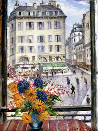Christopher Nevinson - Autumn bouquet, view from a Parisian window