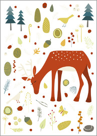 Nic Squirrell - Deer with Forest Things