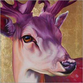 Renate Berghaus - Deer pink gold