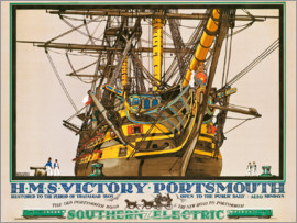Kenneth Shoesmith - H.M.S. Victory, Portsmouth, poster advertising Southern Electric Railways