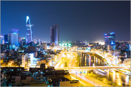 Matteo Colombo - Ho Chi Minh city ( Saigon ) skyline at night, Vietnam