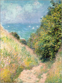 Claude Monet - Narrow pass near Pourville