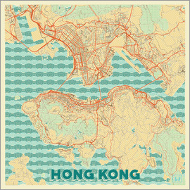 Hubert Roguski - HongKong Map Retro