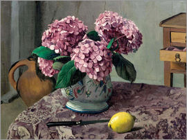 Felix Edouard Vallotton - Hydrangeas and Lemons