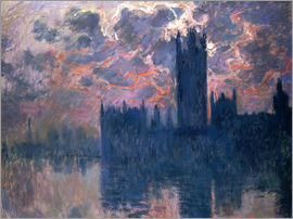 Claude Monet - Houses of Parliament, Sunset