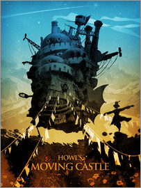 Albert Cagnef - Howl's Moving Castle 2 colors18x24 2