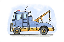 Hugos Illustrations - Hugos tow truck
