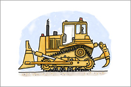 Hugos Illustrations - Hugos bulldozer