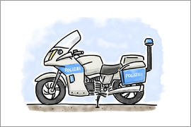 Hugos Illustrations - Hugos police motorcycle