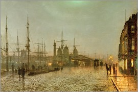 John Atkinson Grimshaw - Hull Docks by Night