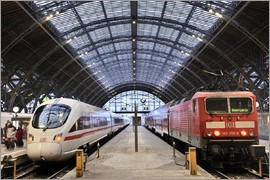 imageBROKER - ICE and Interregio train in the main train station
