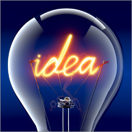 Idea inside a glass bulb
