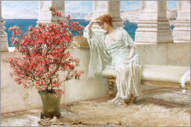 Lawrence Alma-Tadema - Her eyes are with her thoughts and they are far away