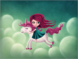 Elena Schweitzer - Illustration with a unicorn with a girl
