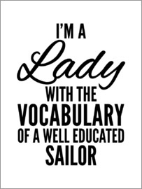 Creative Angel - I'm a Lady With The Vocabulary of a Well Educated Sailor