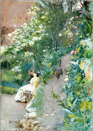 Anders Leonard Zorn - In the garden of Alhambra