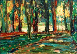 Wassily Kandinsky - In the Park of Saint Cloud  / Painting 1906