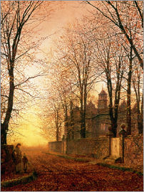 John Atkinson Grimshaw - In the Golden Olden Time, c.1870