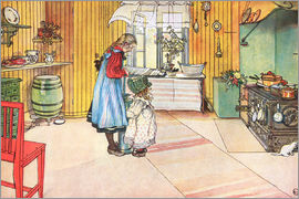 Carl Larsson - In the kitchen