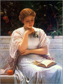 Charles Edward Perugini - In a greenhouse