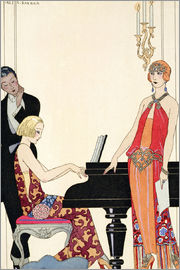 Georges Barbier - Incantation, illustration for 'Gazette du Bon Ton', 1922
