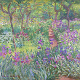 Claude Monet - Irisbeet in the garden
