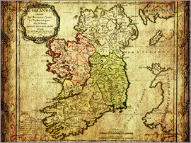 Michaels Antike Weltkarten - Ireland 1766