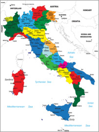 Italy - Political Map