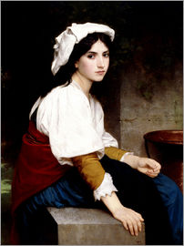 William Adolphe Bouguereau - Italian girl at a fountain