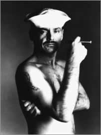 Jack Nicholson with sailor hat and cigar