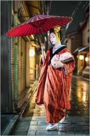 Jan Christopher Becke - Japanese Maiko in Gion district of Kyoto, Japan