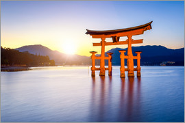 Jan Christopher Becke - Japanese Torii at Itsukushima Shrine in Miyajima