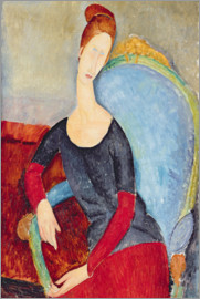 Amedeo Modigliani - Portrait of Jeanne Hebuterne Seated in an Armchair