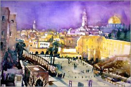 Johann Pickl - Jerusalem, Dome of the Rock with Wailing Wall