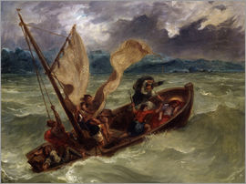 Eugene Delacroix - Jesus on Sea of Galilee