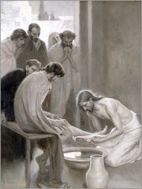 Albert Gustaf Aristides Edelfelt - Jesus Washing the Feet of his Disciples, 1898