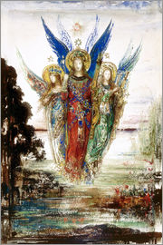 Gustave Moreau - Job and the Angels